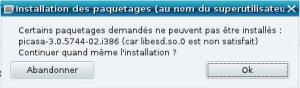 Installer Paquet Picasa
