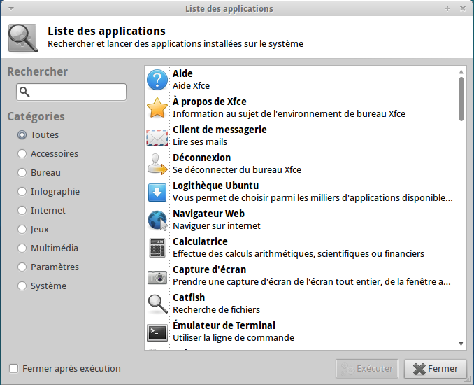 Les applications Xubuntu 11.04