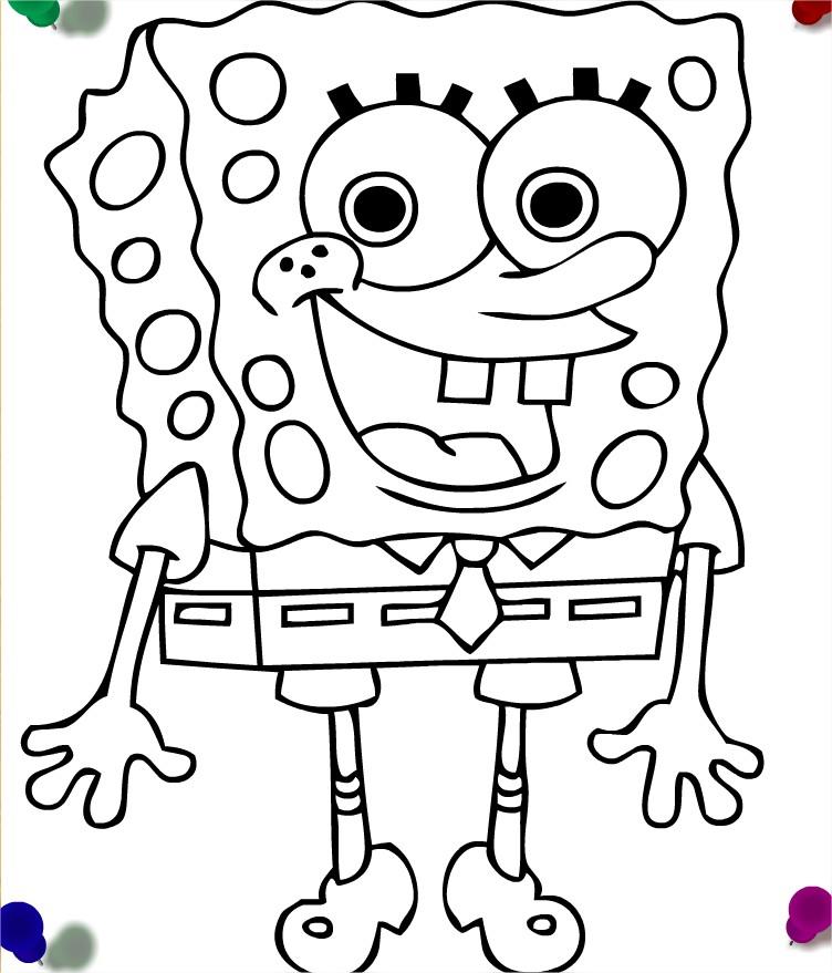 Bob l'éponge à colorier