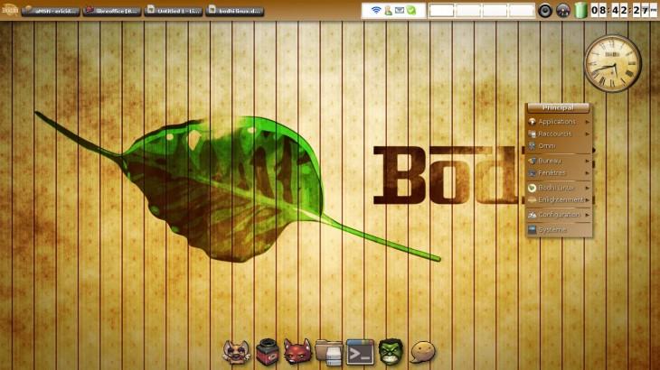 Bodhi Linux bureau E17