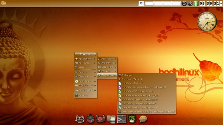 Bodhi Linux theme magnifique