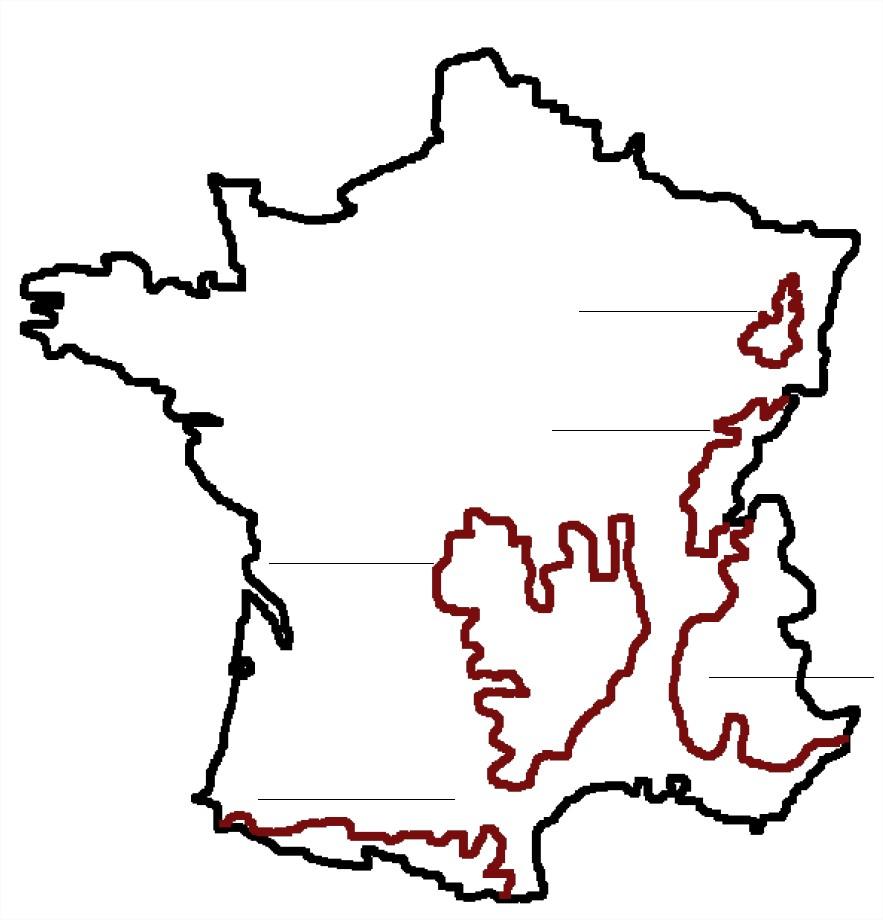 Carte de France montagnes