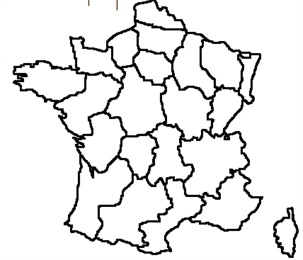 Carte de france avec regions