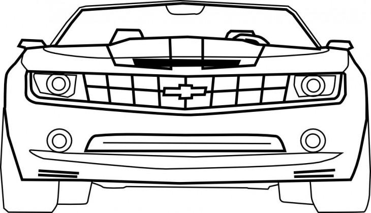 Chevrolet Camaro à dessiner