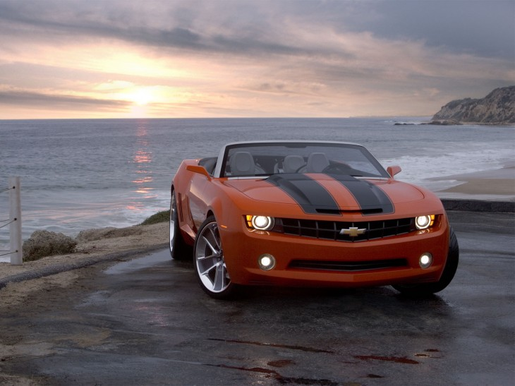 Chevrolet Camaro concept 2007 orange