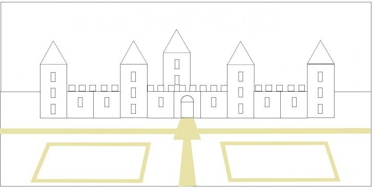 Coloriage chateau