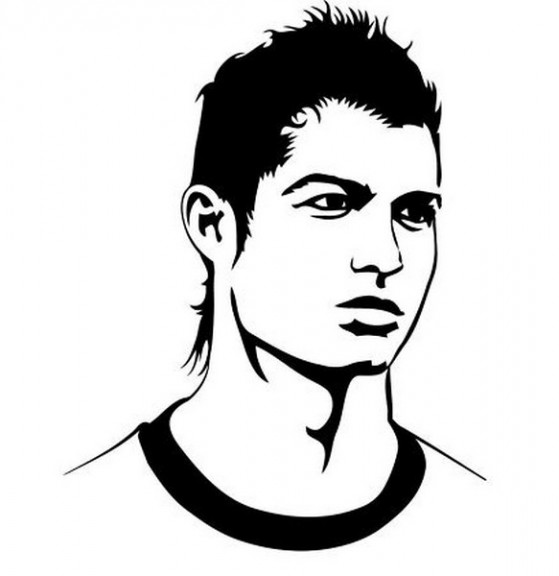 Coloriage cristiano ronaldo footballeur du real madrid - Coloriage footballeur ...
