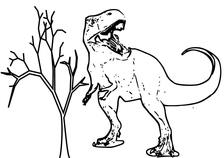 Tyrannosaure Coloriage Du Dinosaure Tyrannosaure Gratuit à