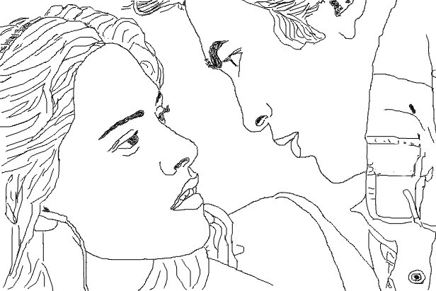 Coloriage Edward et Bella Twilight