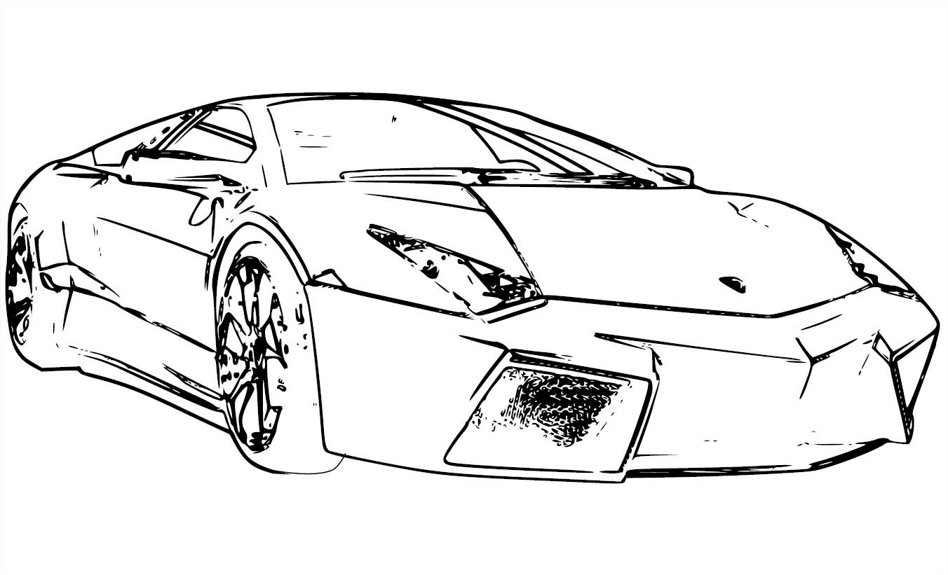 Coloriage Lamborghini Reventon