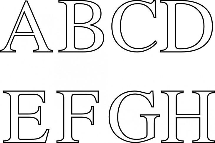 Coloriage lettres A à H