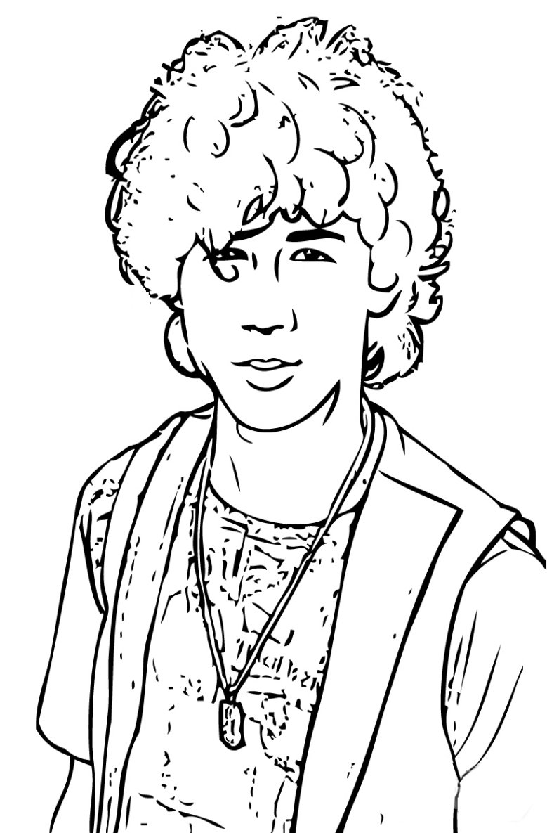 Coloriage Nick Jonas