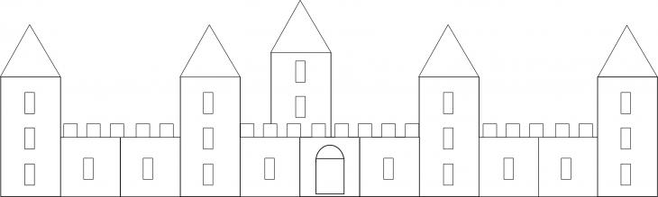 Dessiner mur du chateau