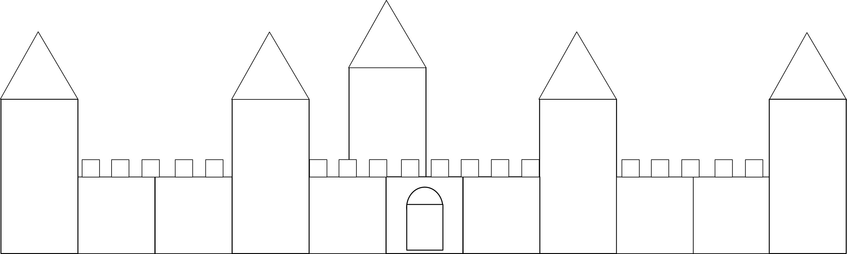 Dessiner tour du chateau - Coloriage de chateau ...