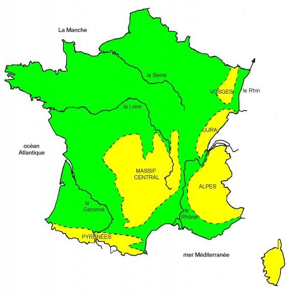Fleuves et massifs de France