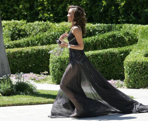 Jessica Alba robe transparente