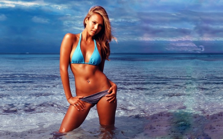 Jessica Alba Wallpaper Bikini