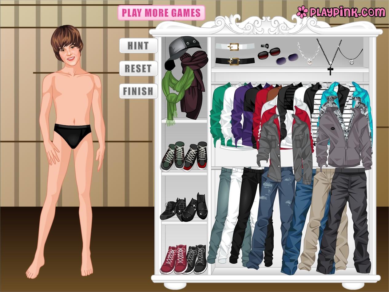 Jeu Justin Bieber à habiller