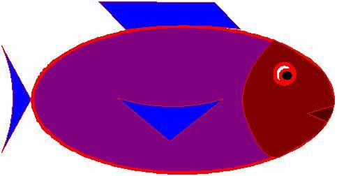 Poisson d'avril violet