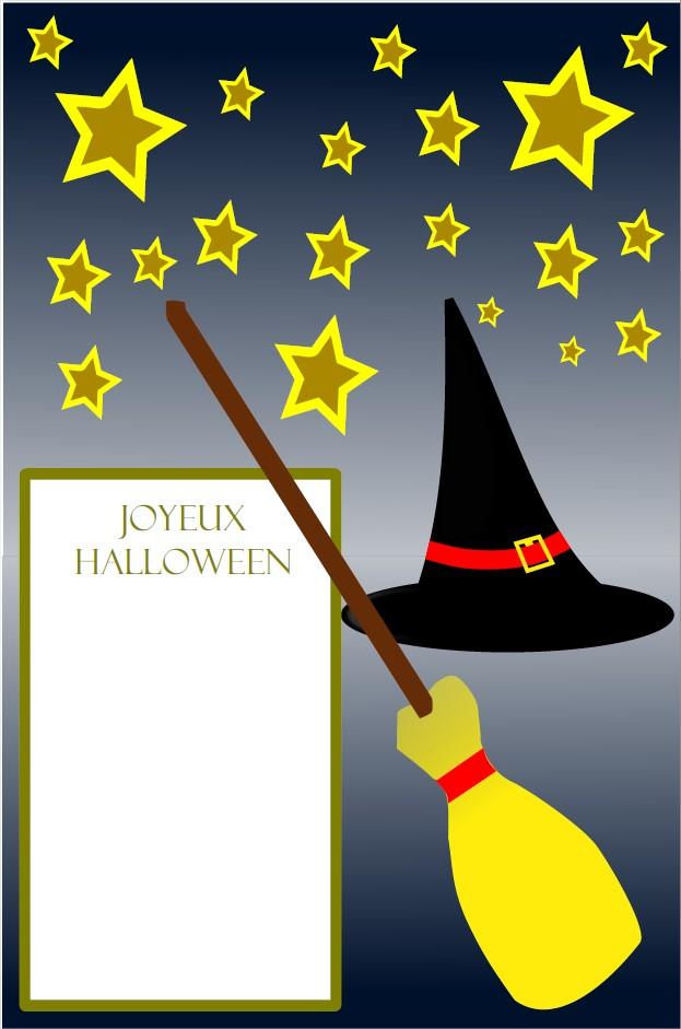 Carte de voeux Halloween
