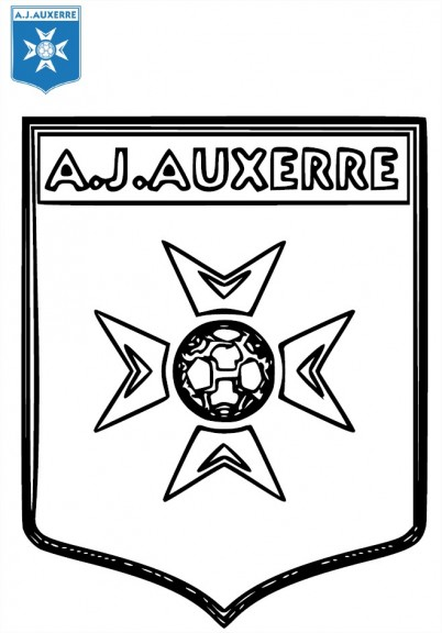 Coloriage AJ Auxerre football
