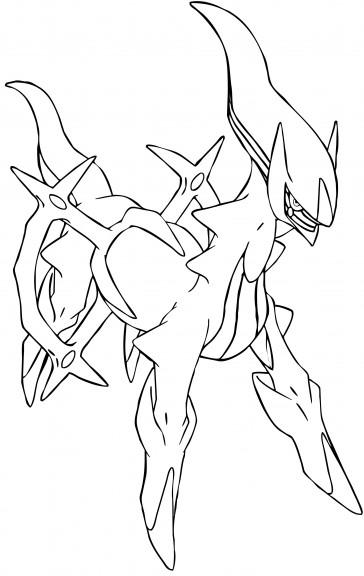 Coloriage Arceus Pokemon légendaire