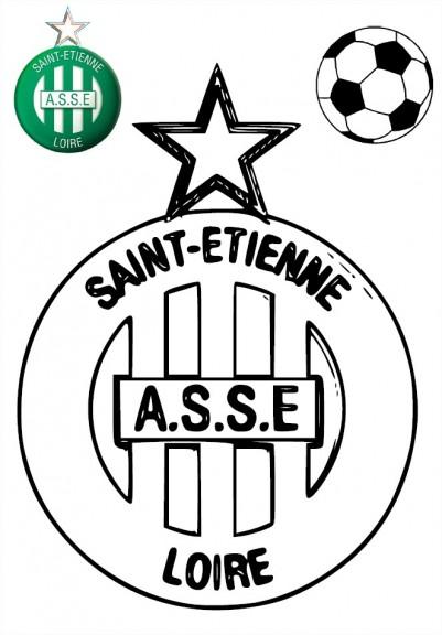 Blason asse coloriage as saint tienne imprimer - Coloriage de logo de foot ...
