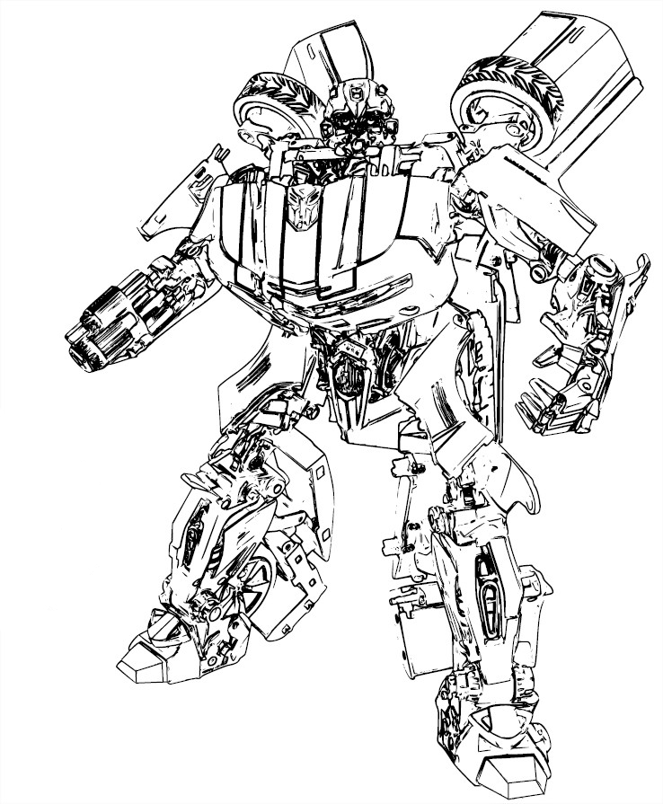 Coloriage autobot bumblebee - Coloriage transformers ...