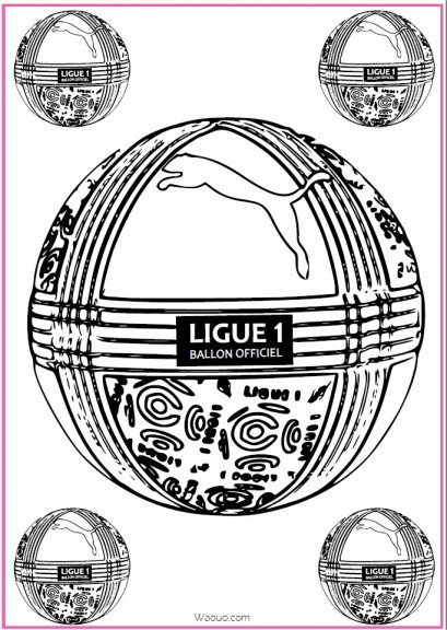 Image Coloriage Ballon.Coloriage Ballon Foot Officiel Ligue 1 A Imprimer