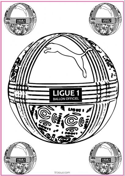 coloriage ballon foot ligue 1