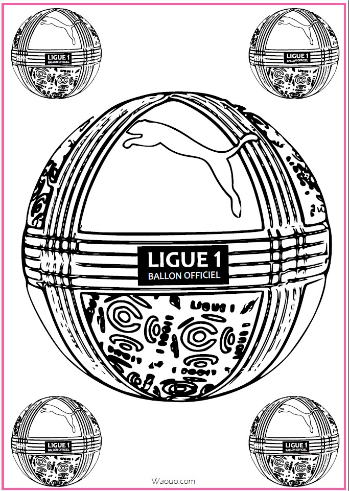 Coloriage ballon foot officiel ligue 1 imprimer - Coloriage ballon foot ...