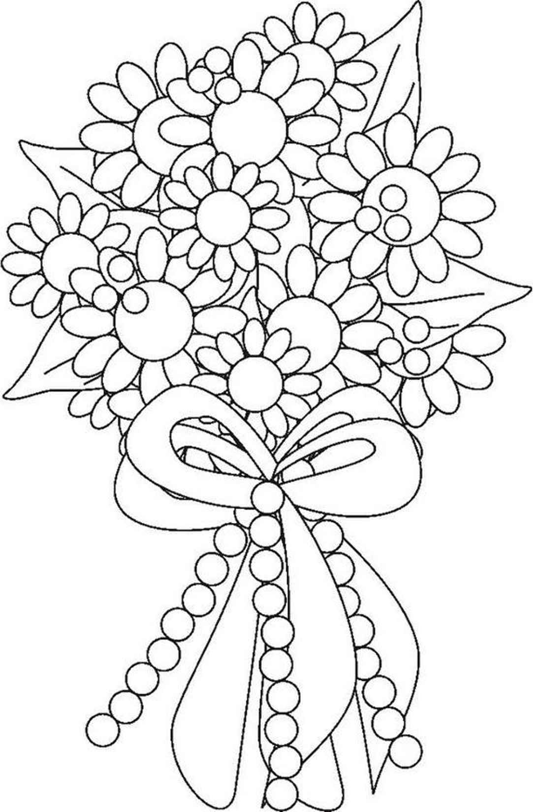 Bouquet de fleurs : Coloriage fleur à imprimer et colorier