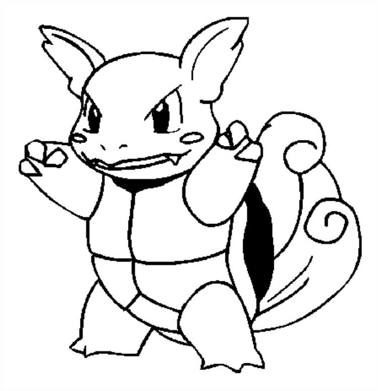 Coloriage carabaffe pokemon gratuit imprimer et colorier - Pokemon gratuit ...