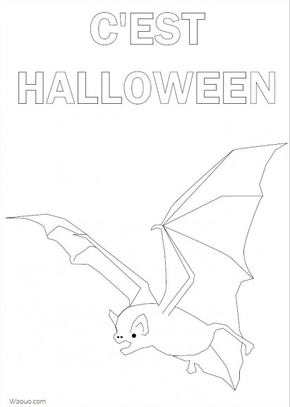 Coloriage c'est Halloween