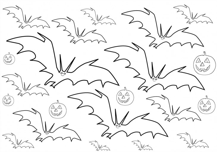 Coloriage chauve-souris Halloween