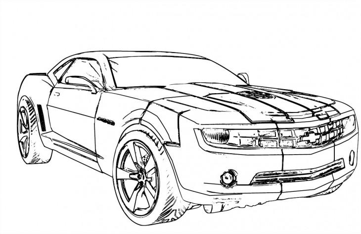 Coloriage Chevrolet Camaro Transformers
