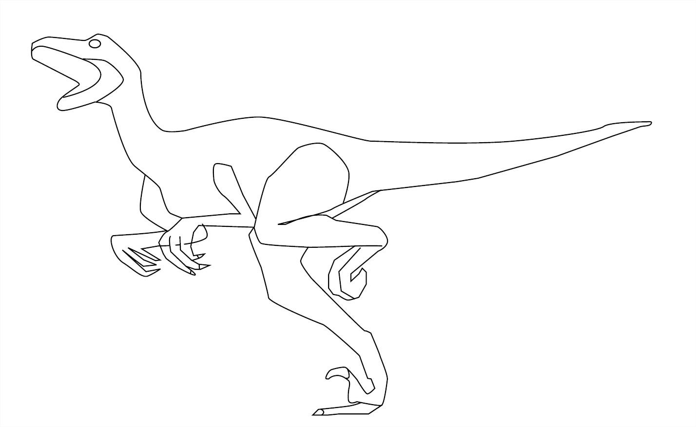 Coloriage Dinosaure Eoraptor