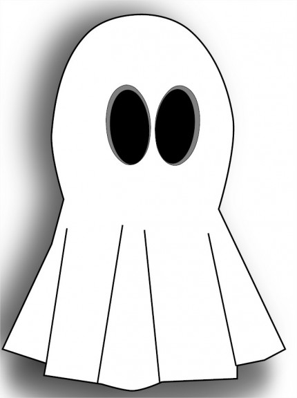Coloriage fantôme mignon
