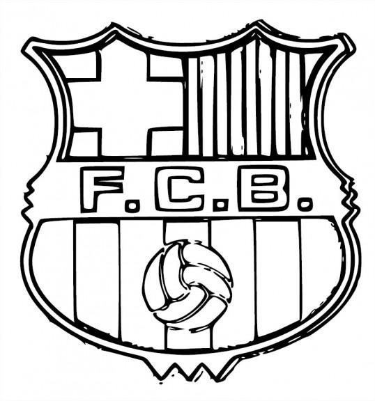 Coloriage Maillot De Foot Barcelone.Blason Fc Barcelone Coloriage Fc Barcelone A Imprimer Et Colorier