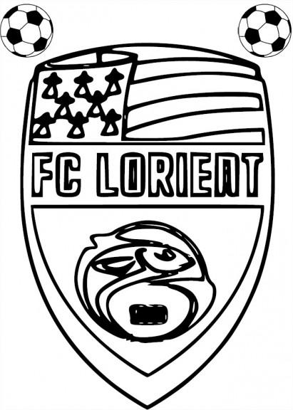 Coloriage FC Lorient