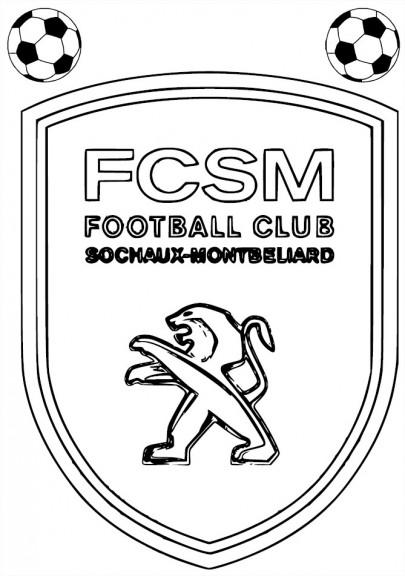 Coloriage FC Sochaux