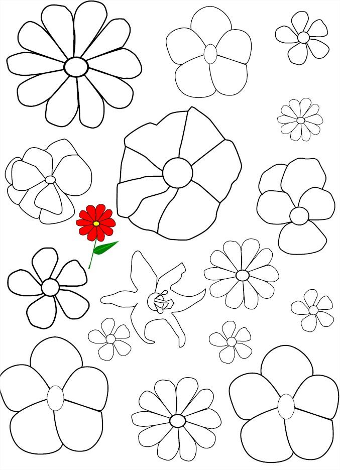 Coloriage de fleurs gratuit imprimer et colorier - Coloriage de fleur ...
