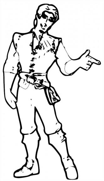 Coloriage Flynn Rider