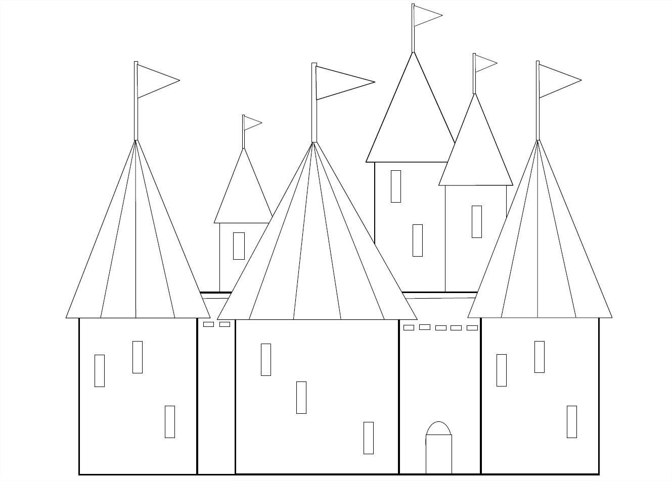 Coloriage Grand château
