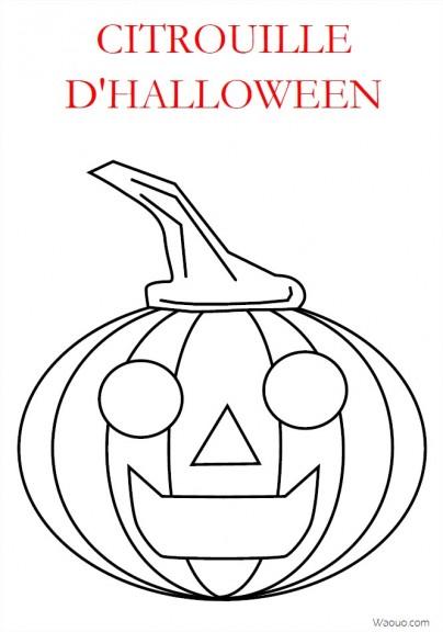 Coloriage Halloween Citrouille