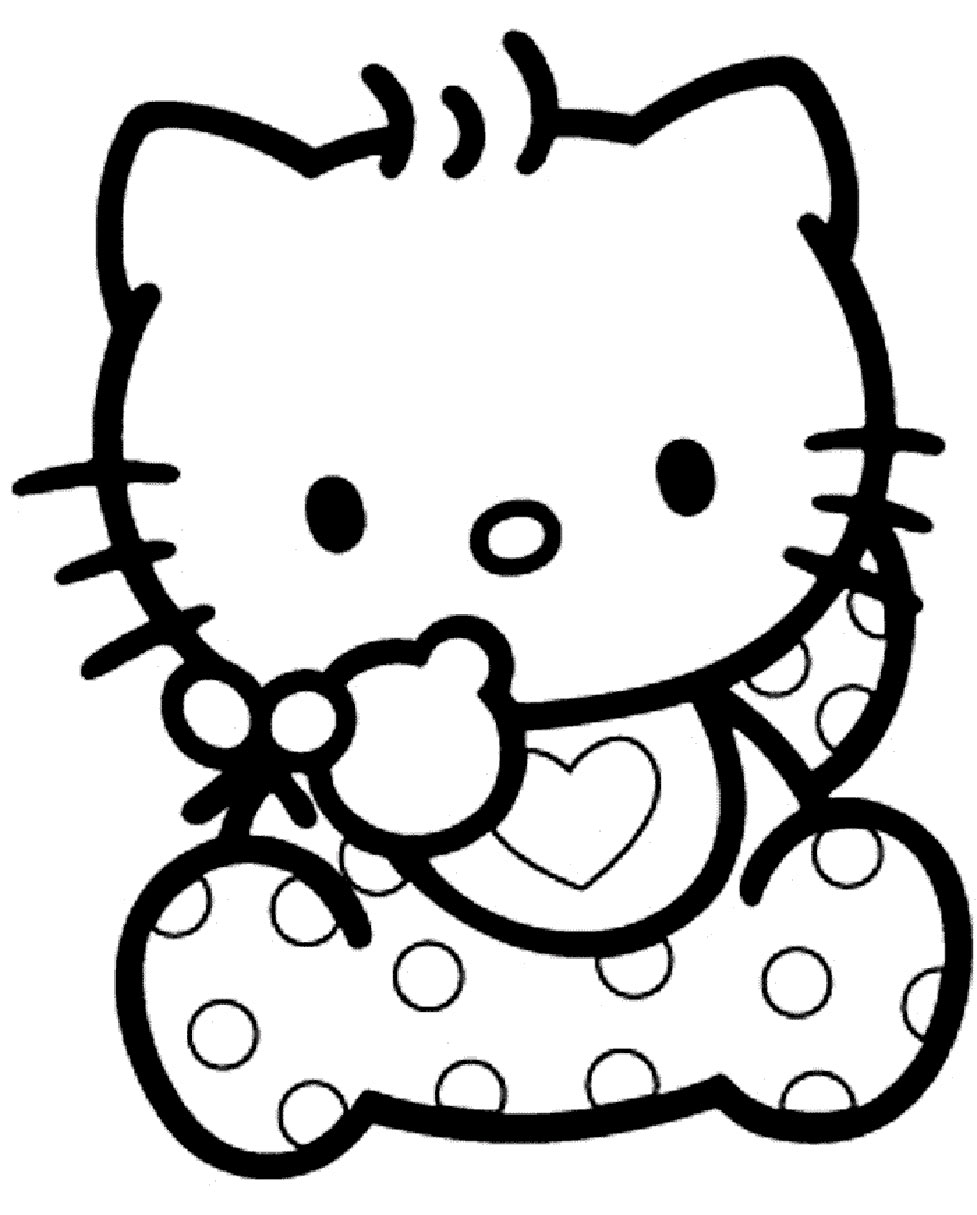 Hello Kitty Bebe Coloriage Bebe Hello Kitty A Imprimer