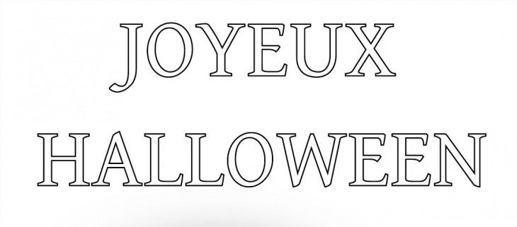 Coloriage Joyeux Halloween