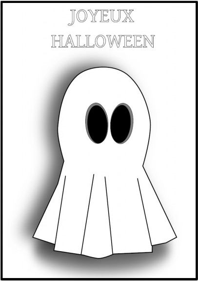 Coloriage Joyeux Halloween Fantôme