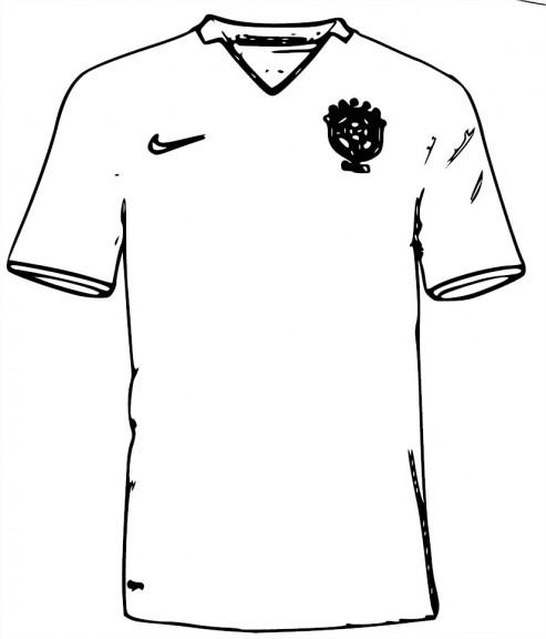 Coloriage maillot du brésil