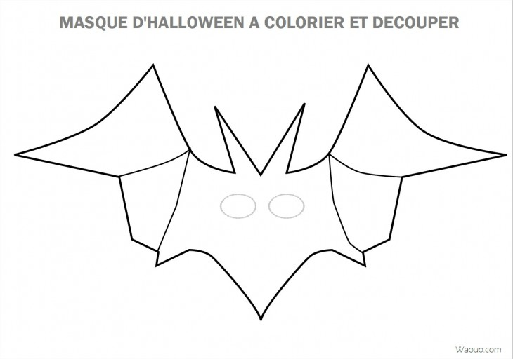 coloriage masque d halloween imprimer et d couper. Black Bedroom Furniture Sets. Home Design Ideas
